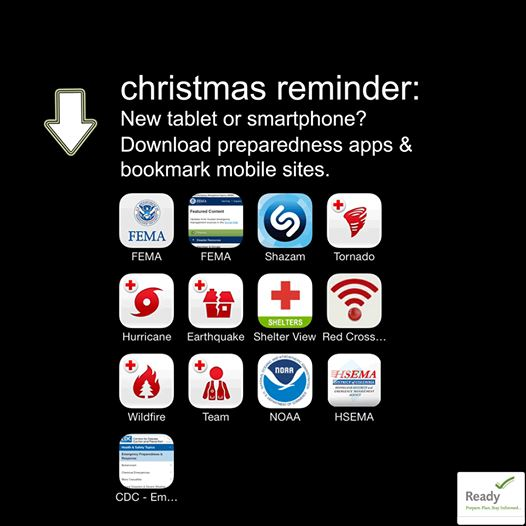 Christmas gift-Preparedness Apps