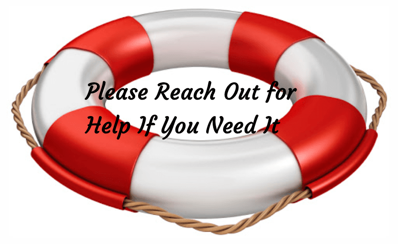Reach Out For Help lifesaver ring
